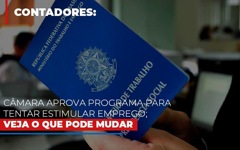 Camara Aprova Programa Para Tentar Estimular Emprego Veja O Que Pode Mudar - Contabilidade na Bahia - BA | Grupo Orcoma