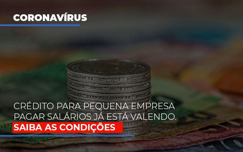 Credito Para Pequena Empresa Pagar Salarios Ja Esta Valendo - Contabilidade na Bahia - BA | Grupo Orcoma