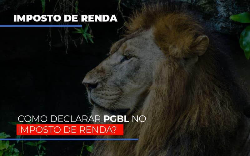 Ir2020:como Declarar Pgbl No Imposto De Renda - Contabilidade na Bahia - BA   Grupo Orcoma